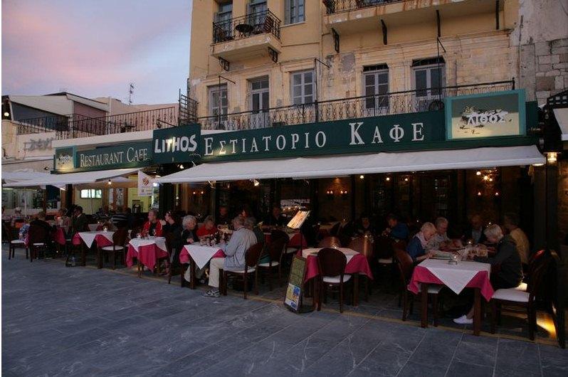 Lithos Restaurant Chania Crete Cretamapcom